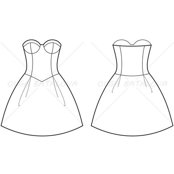 Perfect Women39s Lace Dress Fashion Flat Template  Fashion Flats Women39s