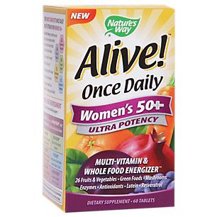 Alive! Once Daily Womens 50+ Ultra potency (60 Tablets)  by Natures Way at the Vitamin Shoppe
