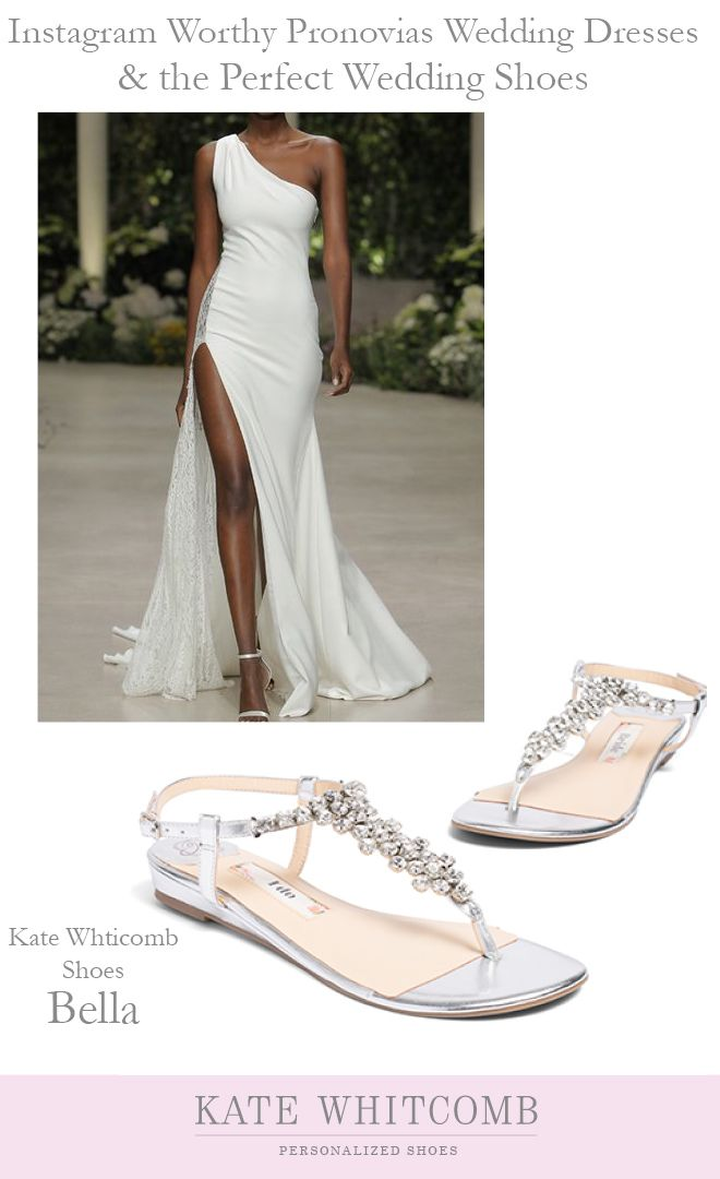 Gorgeous Silver Wedding Sandals For The Bride Wedding Flats