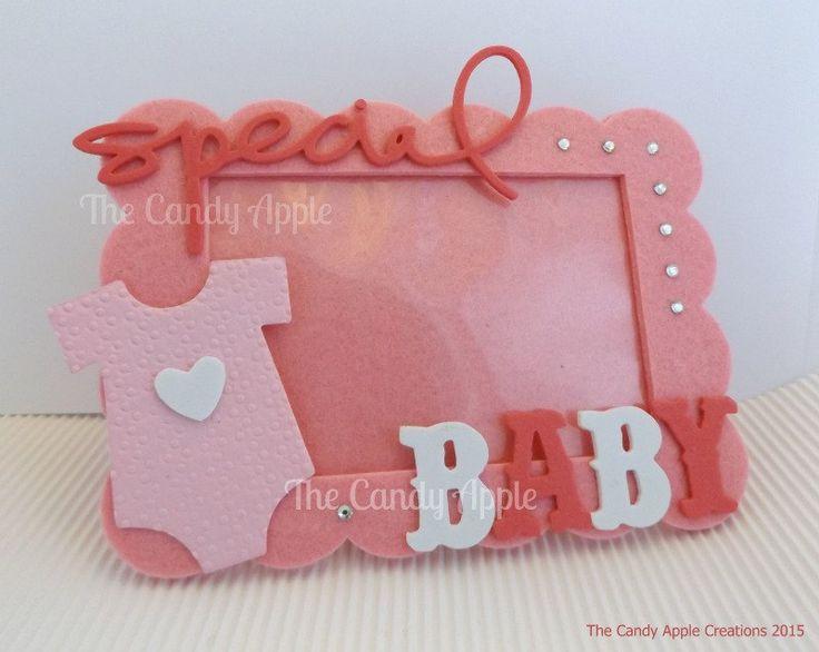 """Cornice Portafoto """"Special Baby"""" rosa - Pink Portrait di TheCandyAppleshop su Etsy"""