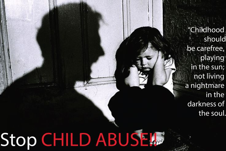 Poster raising voice against CHILD ABUSE.