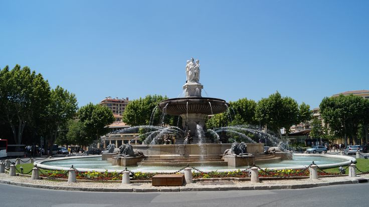 Aix-en-Provence central fountain near city centre