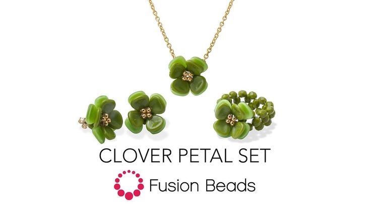 Watch how to bead the Clover Petal Set by Fusion Beads