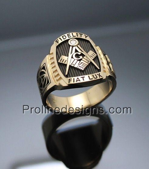 Customized Men's Masonic Ring #freemason #masonicrings https://www.etsy.com/shop/ProLineDesigns?ref=hdr_shop_menu