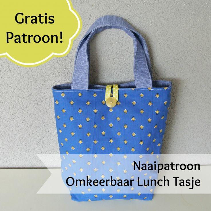 Gratis Naaipatroon lunchtasje - Sew Natural. = free pattern lunchbag in Dutch
