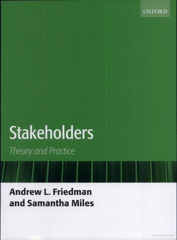 stakeholder theory google This paper tried to focus on the stakeholder theory and the influential power of  the stakeholders to have an impact on the business policy of any business house.