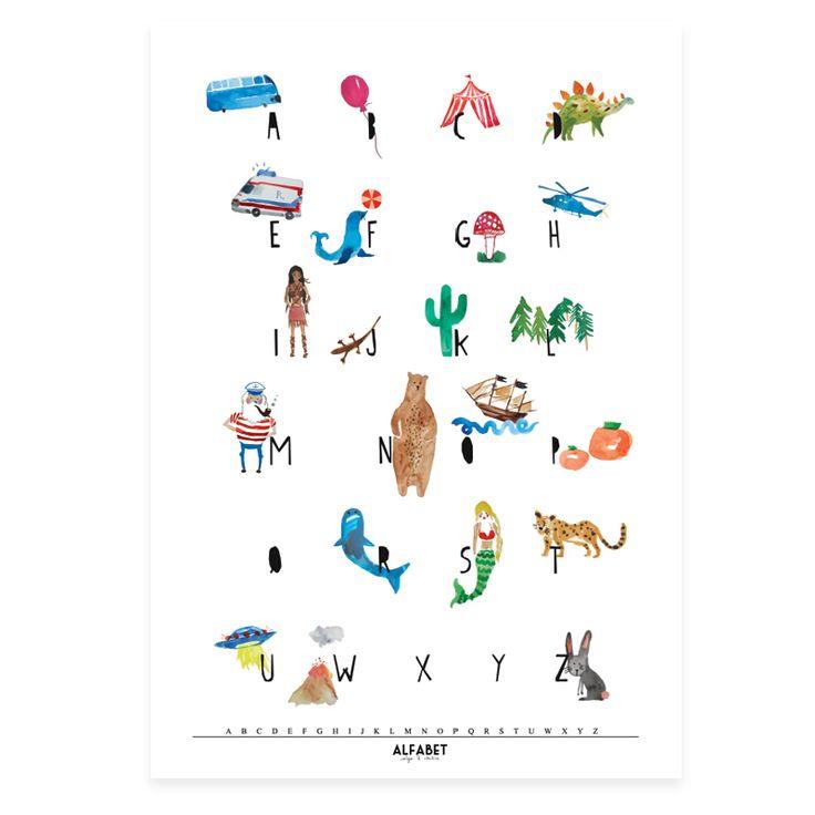 Alfabet Eklektyczny Plakat 50×70 | NONO STORE