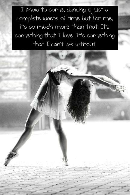 I don't dance because I'm talented/good at it; I dance because I've tried other things and always turned back to what I love <3
