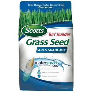 Scotts Turf Builder 3 lb. Sun and Shade Mix Grass Seed-18225 at The Home Depot