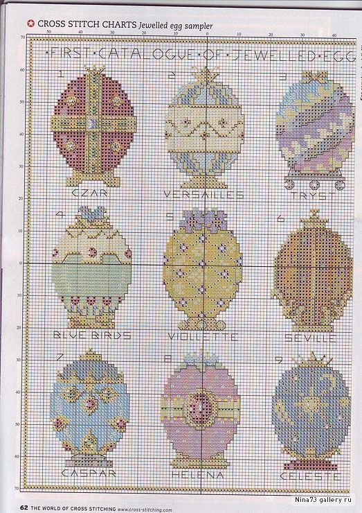 I love the Faberge Eggs, so no wonder that this pattern cought my eye