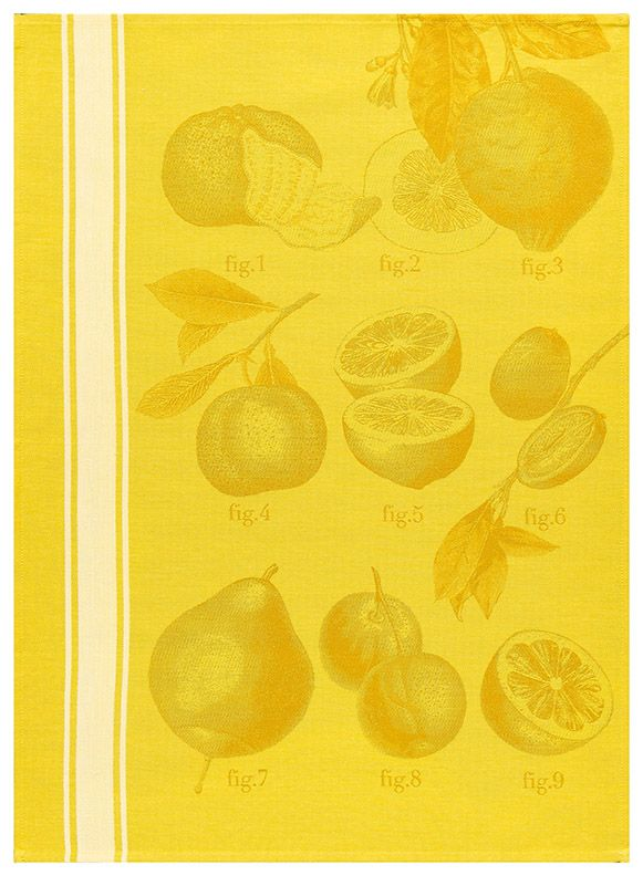 Argumes In Citron By Le Jacquard Francais French Dish Towels