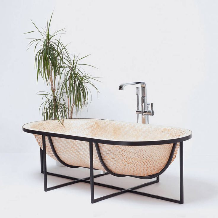 Beautiful Woven Wood Bathtub
