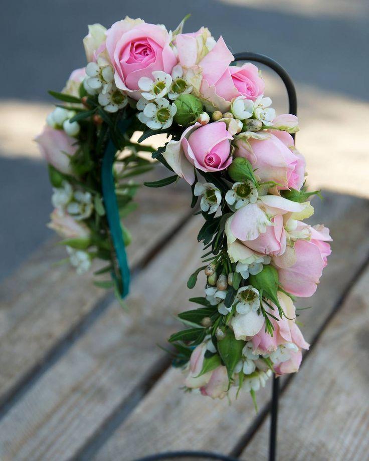 #wianuszek w formie opaski 😍 Fot. @monikabartz_photo #wreath #flowerwreath #flowercrown