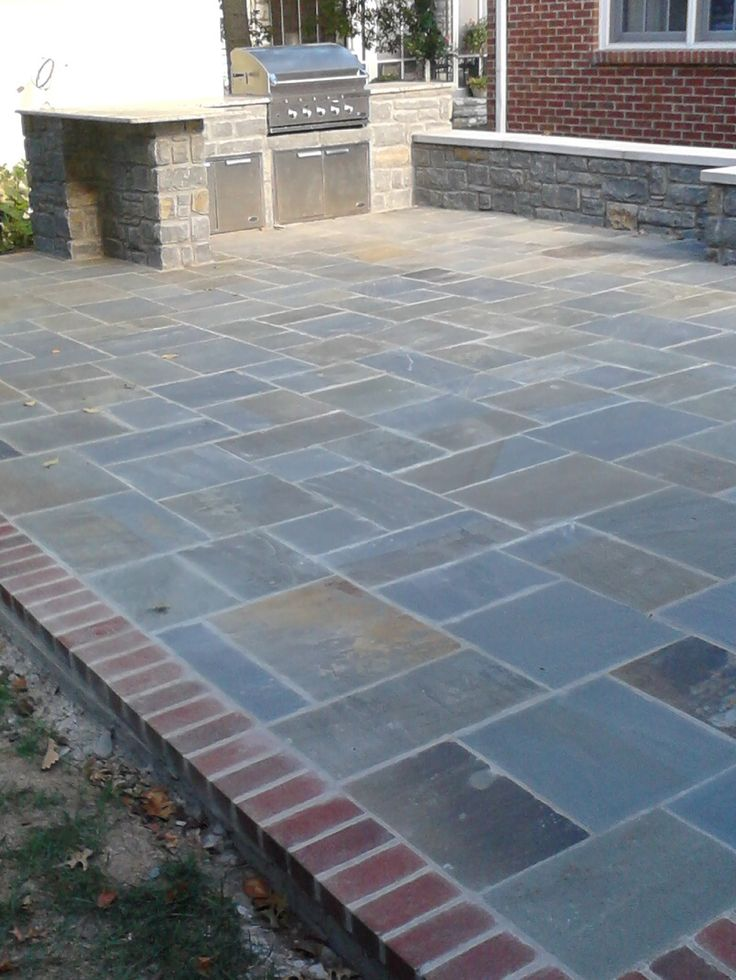 Love the brick border on this bluestone patio - 25+ Best Ideas About Bluestone Patio On Pinterest Outdoor Patio