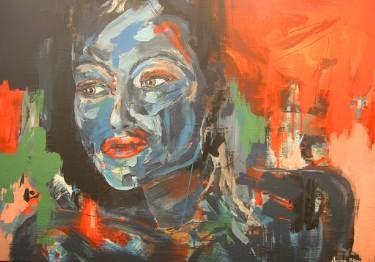 "Saatchi Art Artist André Pillay;  abstract portrait Painting, ""Alchemy II"" #art #SaatchiArt  #paintings #abstractart"