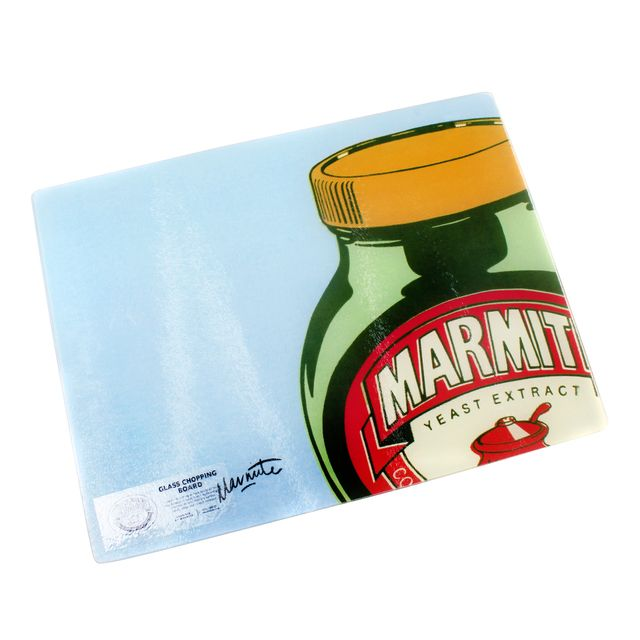 Marmite Glass Worktop Saver 40cm, Blue