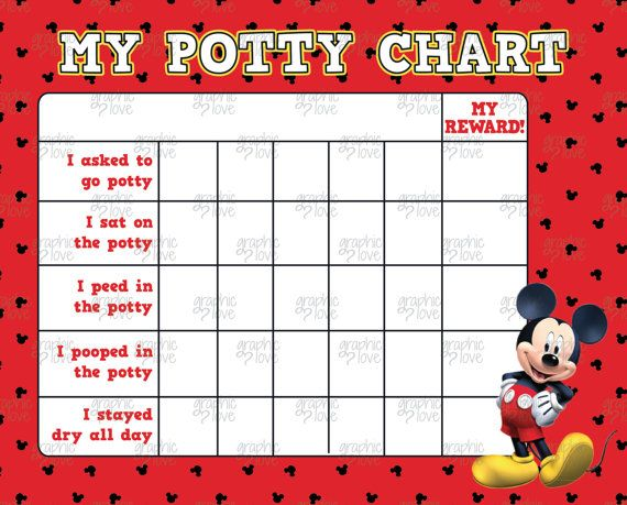 Mickey Mouse Potty Training Chart FREE Punch by GraphicLoveShop