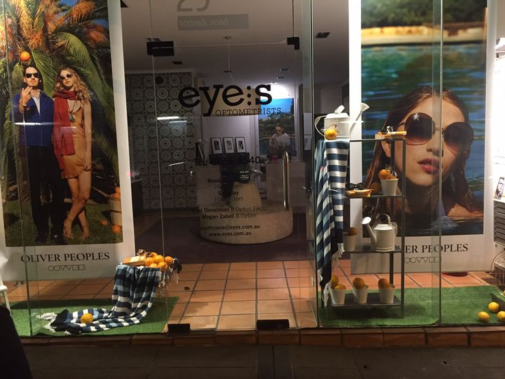 The amazing Oliver Peoples window at our South Yarra store