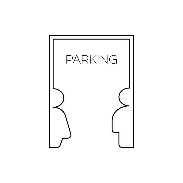 Logo grupy Parking dla Duszpasterstwa Akademickiego (Poznań, 2016/17). Projekt: Krzysztof Nowak