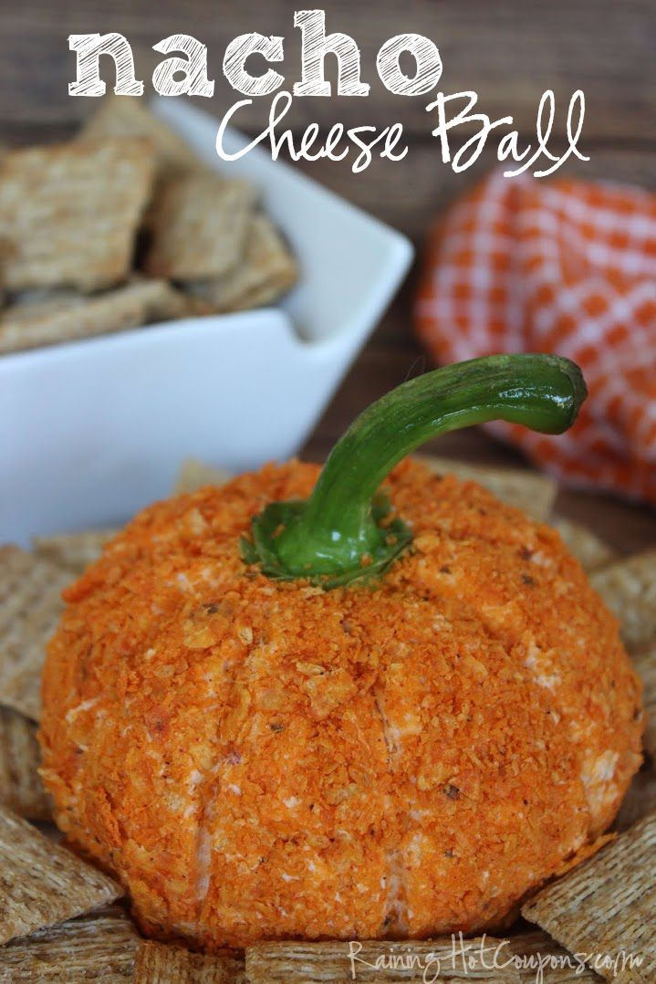 Pumpkin Shaped Nacho Cheese Ball