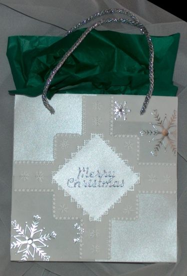 Another little CD gift bag, in silver colouring.