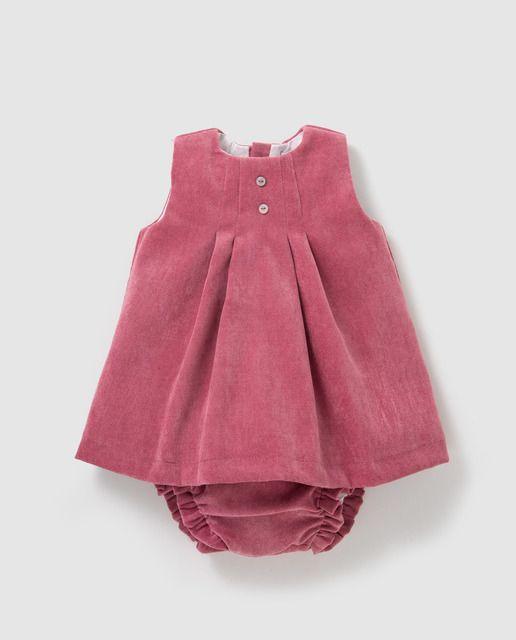 0312d1d1c Pichi de pana de bebé niña Dulces en rosa