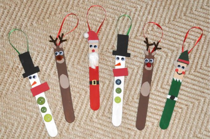 24 Christmas Crafts for Kids » Popsicle Stick Ornaments