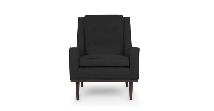 Nina Graphite Black Armchair - Chairs & Stools - Bryght   Modern, Mid-Century and Scandinavian Furniture