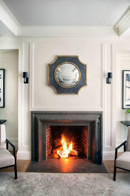 @Lauren Fasolo  @Little Pink Houses  blue mirror is gorgeous! Trisha Troutz Blog | Victoria Hagan + Philip House in NY