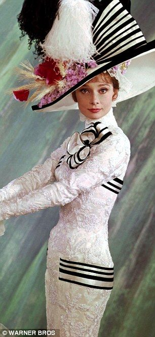 Audrey Hepburn's Ascot dress, My Fair Lady film 1964, sold in 2011 for $4,500,000.00. The film based on the George Barnard Shaw play Pygmalion won eight Oscars.