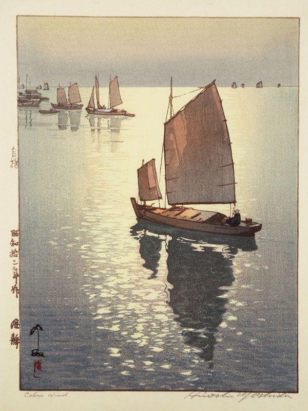 """Calm Wind"" by Hiroshi Yoshida   24 Japanese Woodblock Prints That Will Take Your Breath Away"