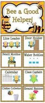 Bee A Helper Classroom Jobs Display Clip Chart