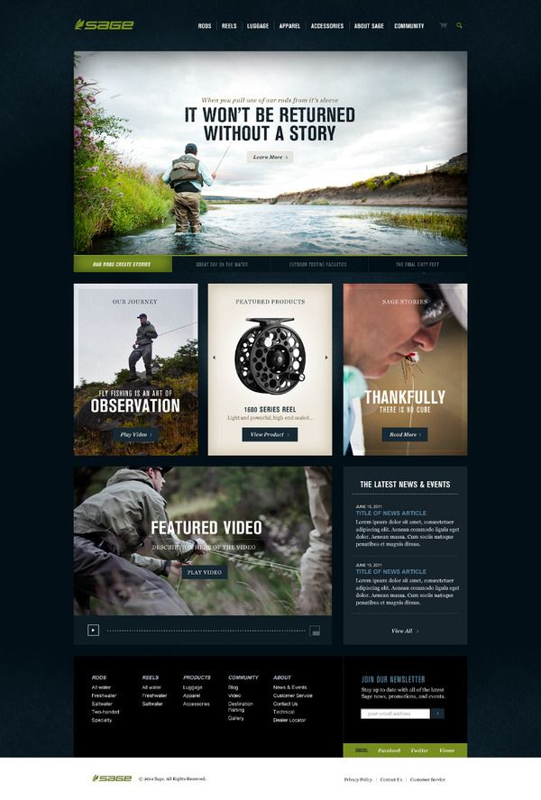 Sage Fly Fishing by Josh Ashton, via Behance