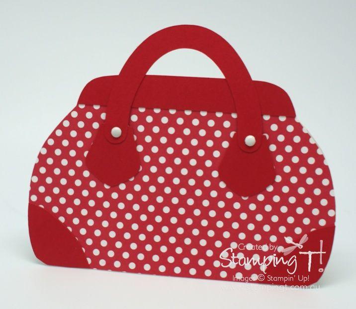 stylish handbag card ... adorble red polka dot purse ... cute!!!
