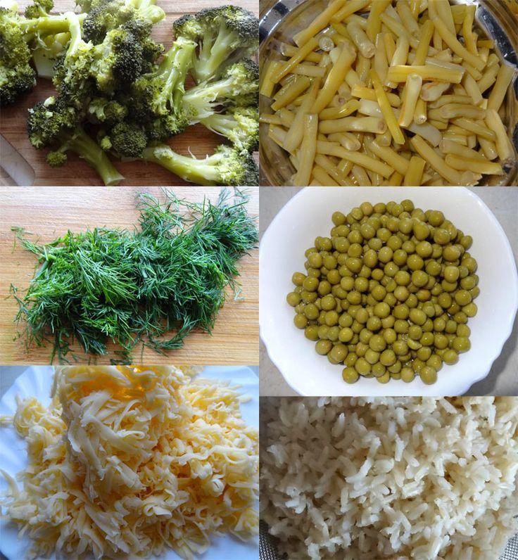 Składniki na zapiekanka z warzywami