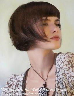cabelo chanel com franja fotos