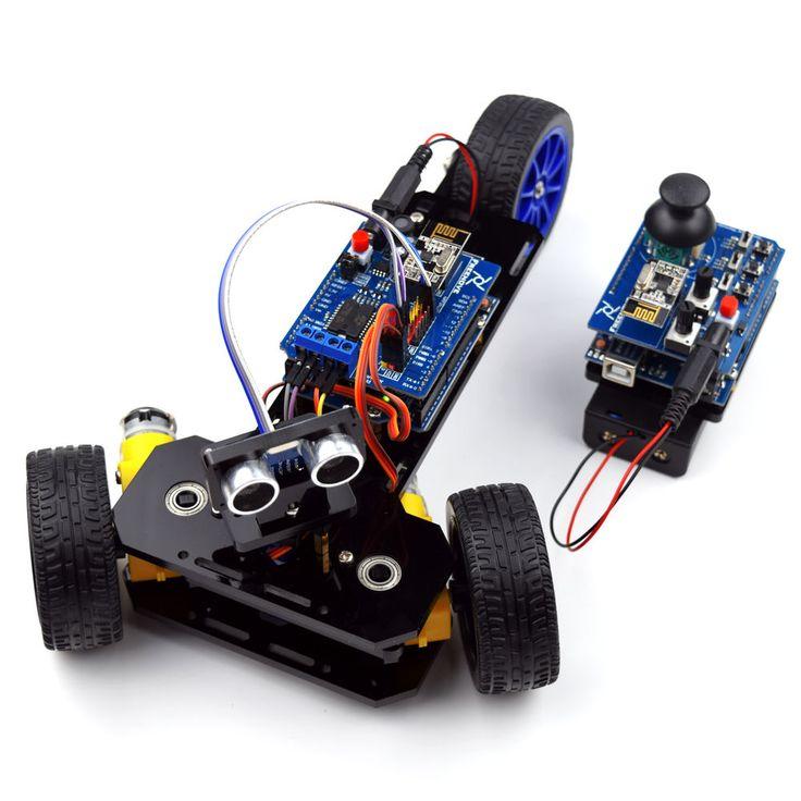 New DIY Wireless Telecontrol Three-wheeled Smart Car Robot Kit for Arduino 2.4G #Unbranded