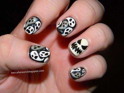 47 best halloween ghost nail art images on pinterest nail check out this collection of halloween ghost nails art designs ideas of prinsesfo Gallery