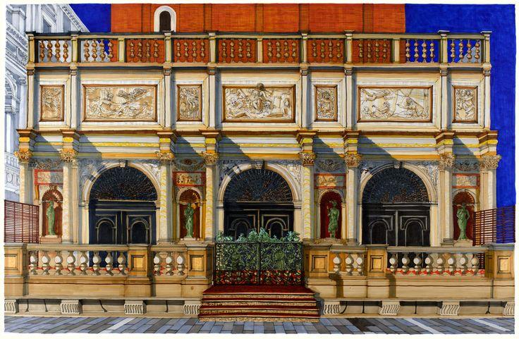 Logetta San Marco, Venice. #Venice #St Mark's #Architecture #Art #Drawing