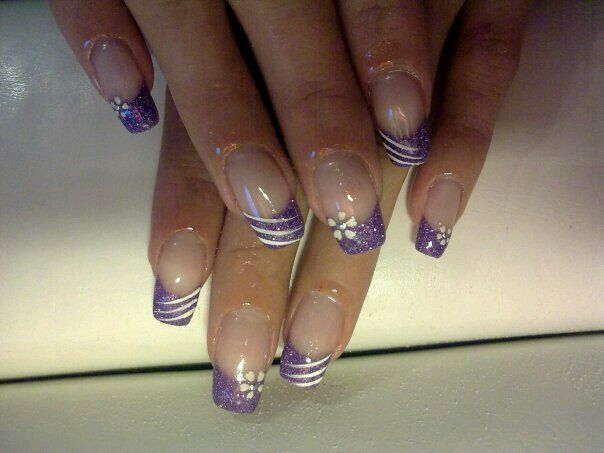 Purple French Tip