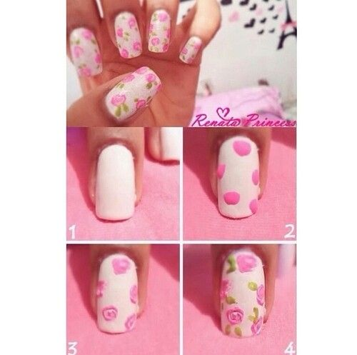 238 best nails images on pinterest nail design cute nails and rose nails easy step by step tutorial on how to make roses for nail designs prinsesfo Gallery
