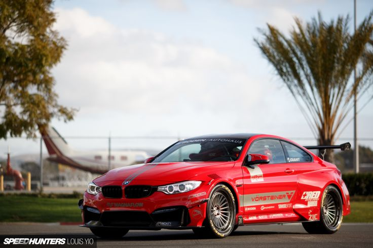 Boden Autohaus x Kolab Agency BMW M4 - Vorsteiner GTRS4 Wide Body Kit - GT Rear Wing - BASF Red Paint - Custom Graphics