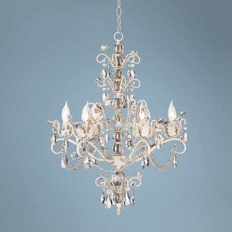 Living room chandelier. Kathy Ireland Dorset Swag Plug-In Style 6-Light Chandelier