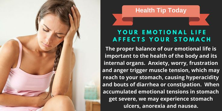 Your Emotional Life Strongly Affects Your Stomach
