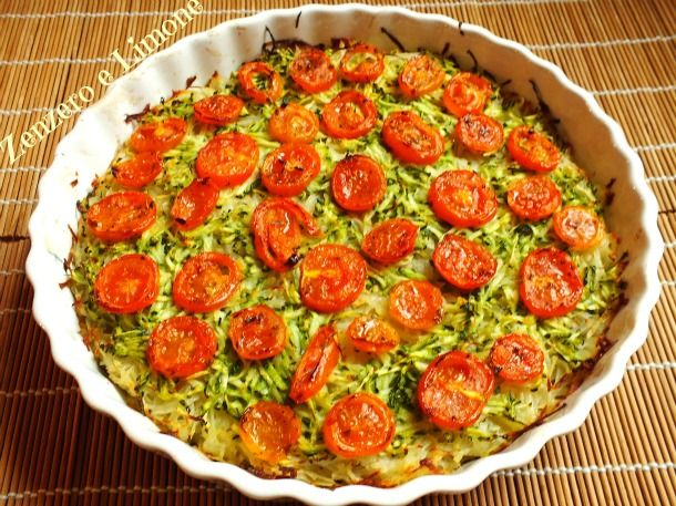 Torta+di+verdure+light+-+ricetta+vegetariana