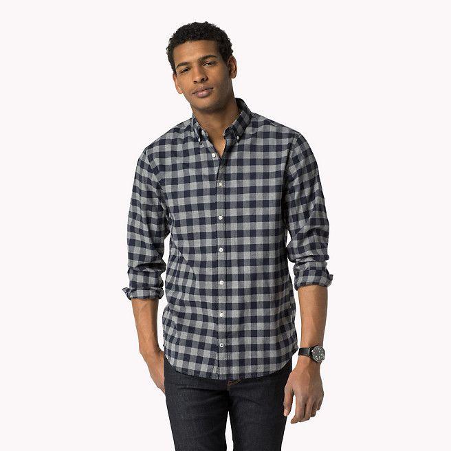 Tommy Hilfiger Shea Regular Fit Overhemd - navy blazer-pt / silver fog htr (Blauw) - Tommy Hilfiger Normale Fit - hoofdbeeld