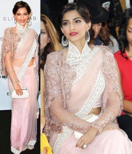 Sonam Kapoor takes sari to Paris Fashion Week - Bollywood Actresses - Zimbio