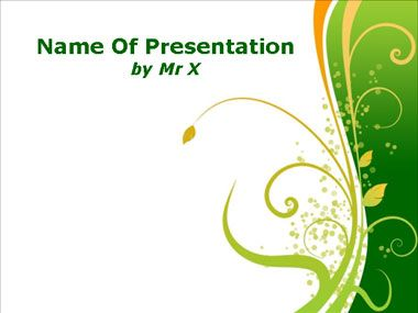 Green Floral Powerpoint Template