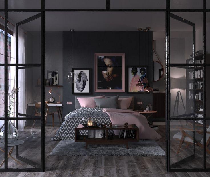 die 10 besten ideen zu Интерьер auf pinterest | beautiful, behance ... - Modernes Schlafzimmer Interieur Reise