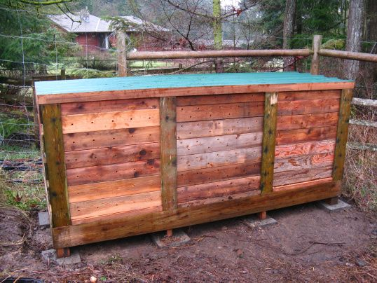 How to make the ultimate compost bin in outdoor garden  with Pallets Garden compost bin